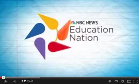 image courtesy http://www.youtube.com/ and NBC Education Nation Today